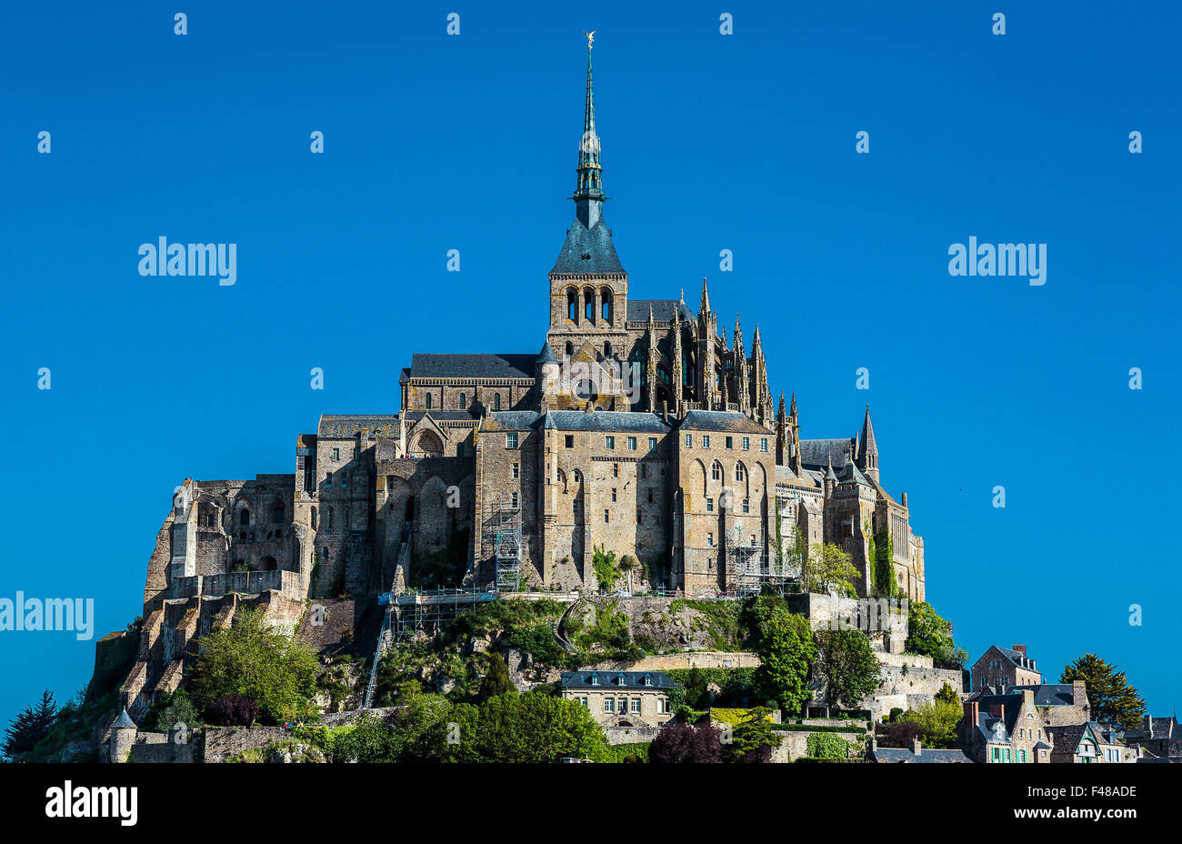 France, Normandy, Mont St Michel - Stock Image