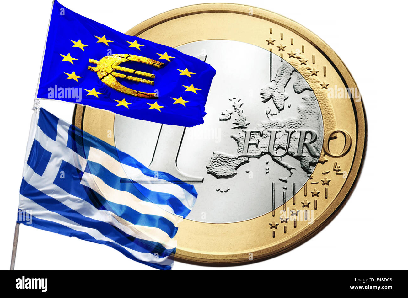 Greece and the European Union - Stock Image
