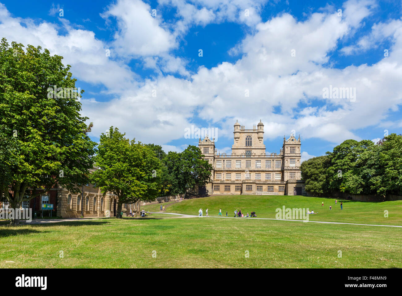 Wollaton Hall, a 16thC Elizabethan country house, Wollaton Park, Nottingham, England, UK - Stock Image