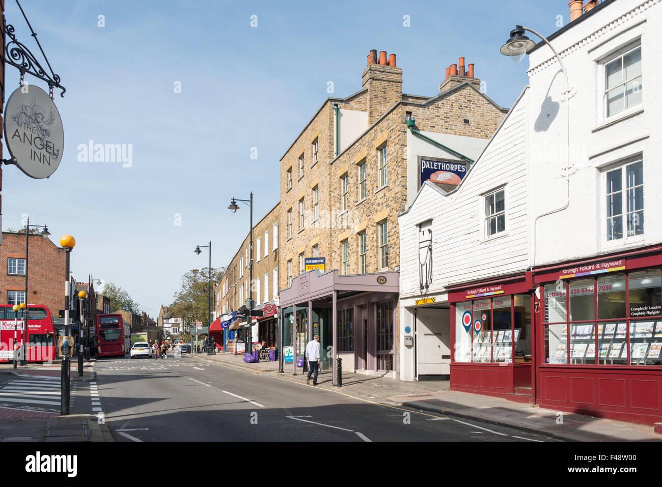 Highgate High Street, Highgate, London Borough of Haringey, Greater London, England, United Kingdom - Stock Image