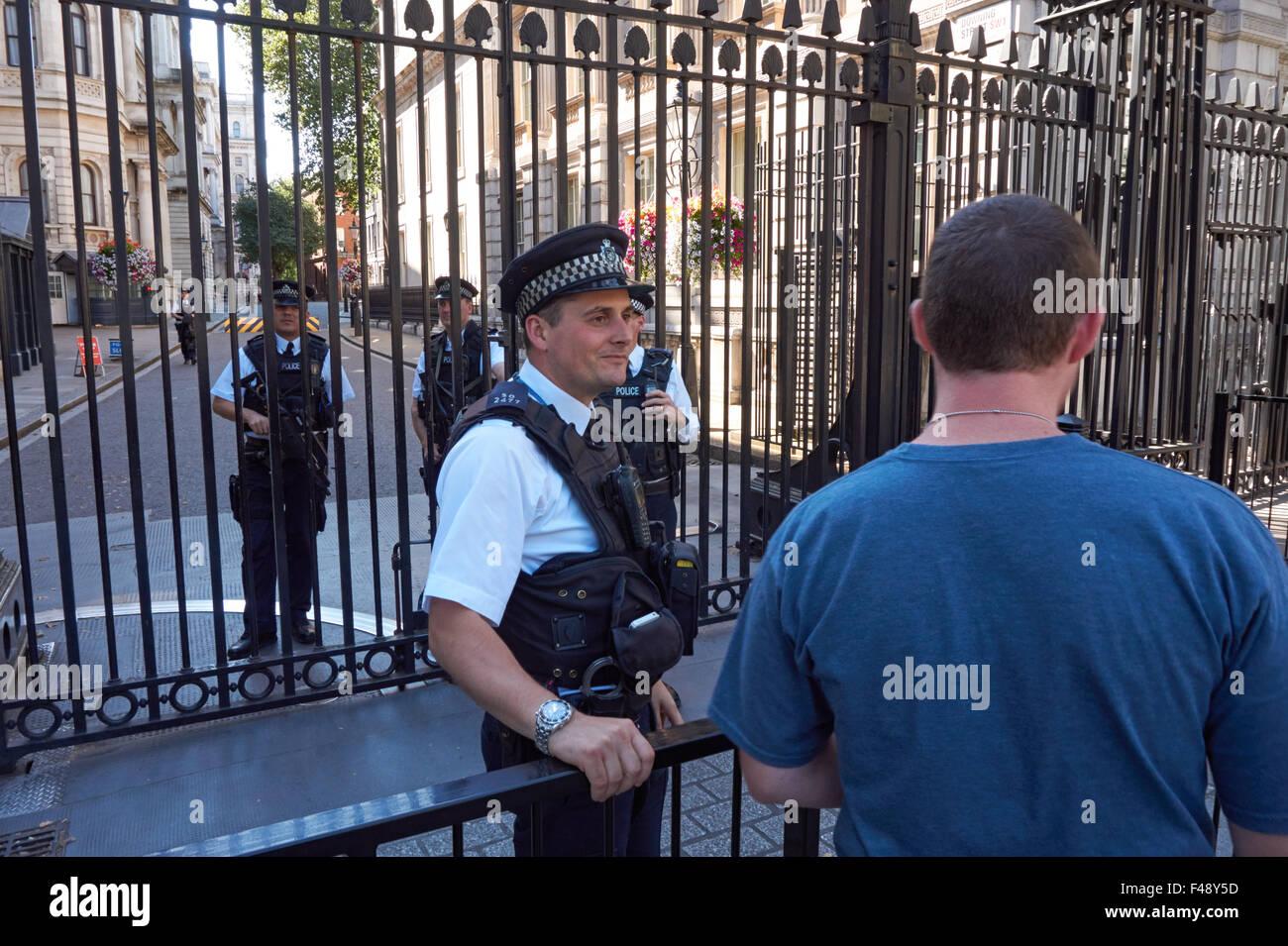 Police outside number 10 Downing Street, London England United Kingdom UK Stock Photo