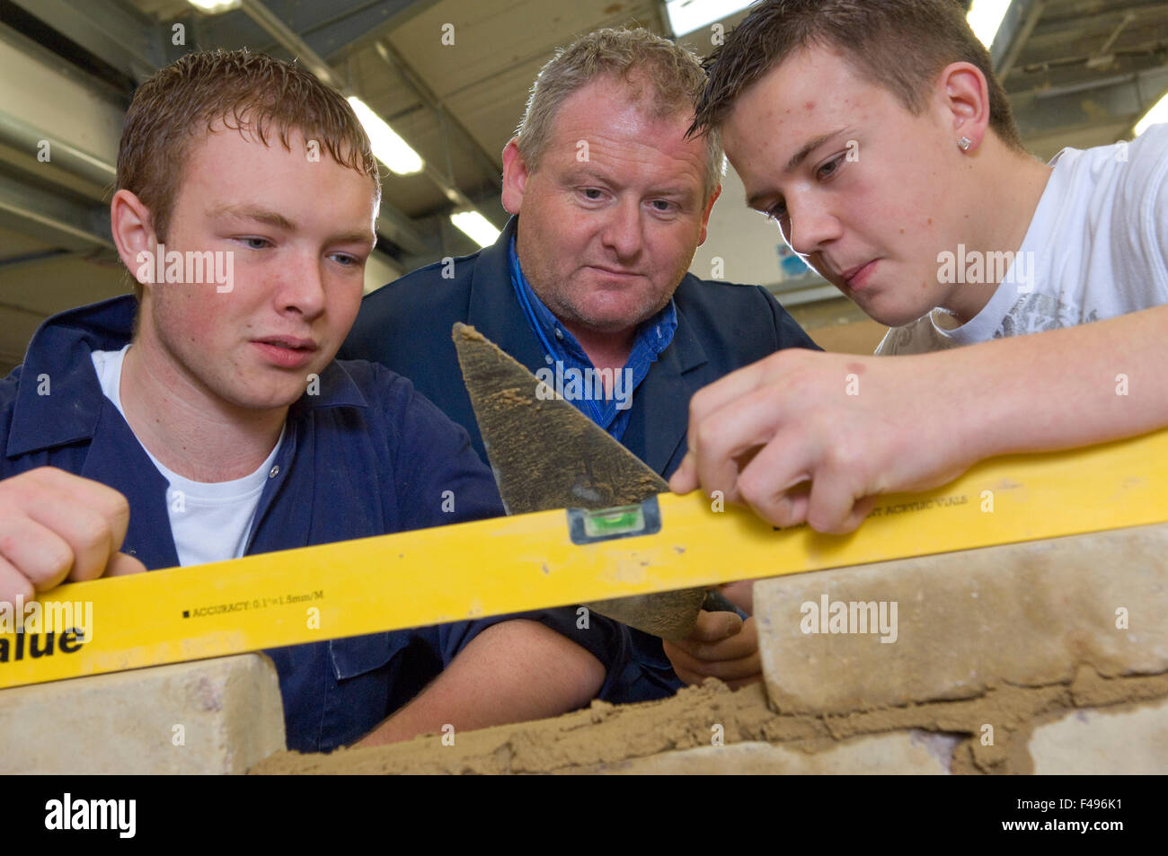 Hanham High School, Bristol construction department where they teach building and woodworking skills. Stock Photo