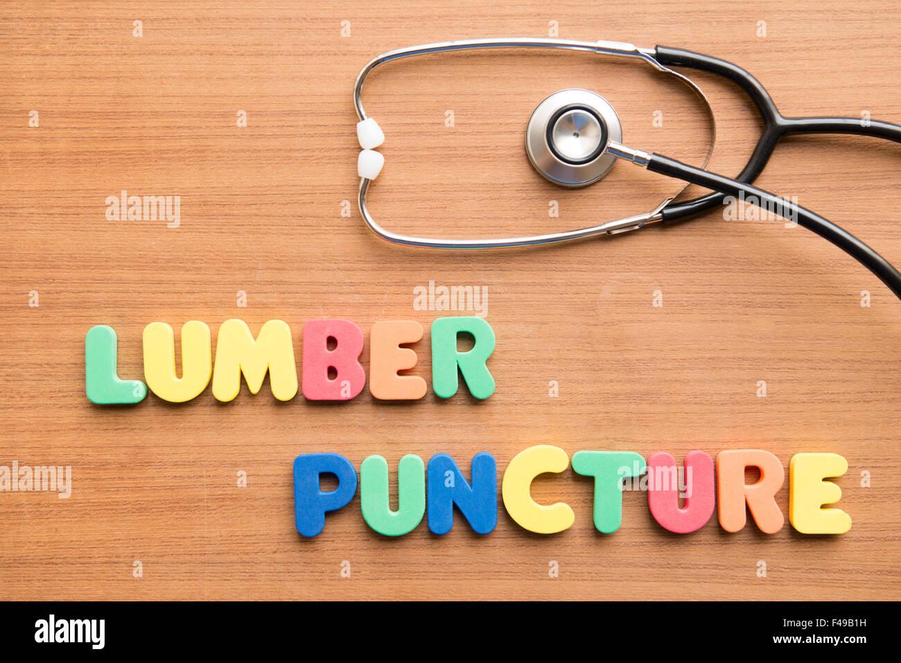 Lumbar puncture (LP) - Stock Image