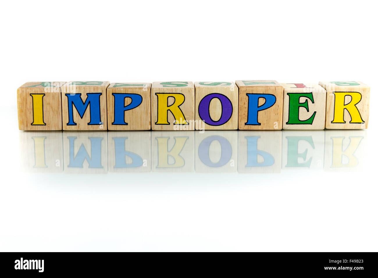 improper - Stock Image
