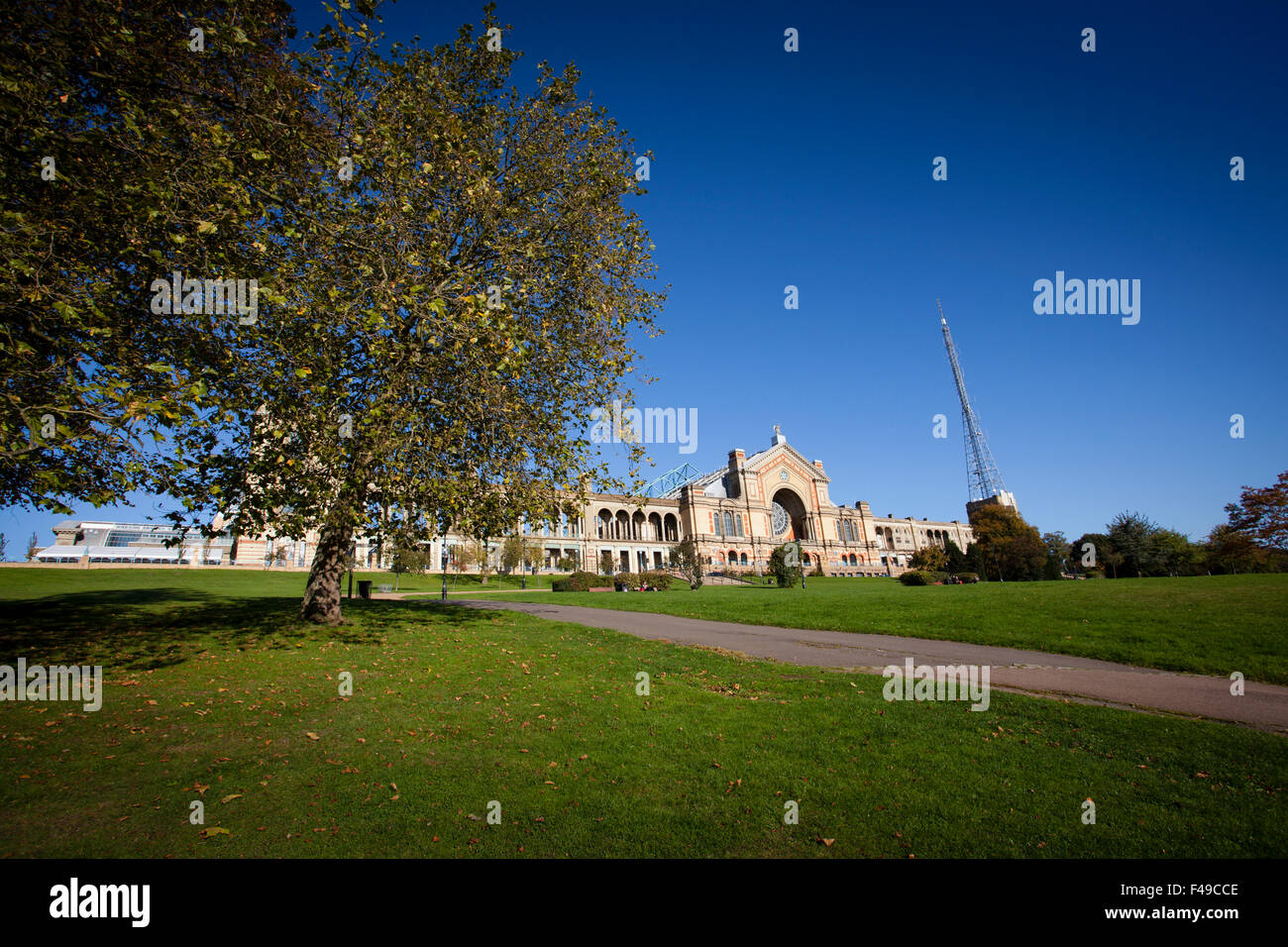 Alexandra Palace in North London - Stock Image