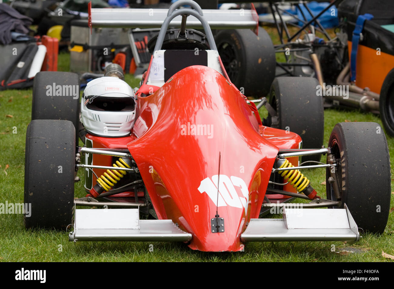 Close up of a classic f3 motor racing car - Stock Image