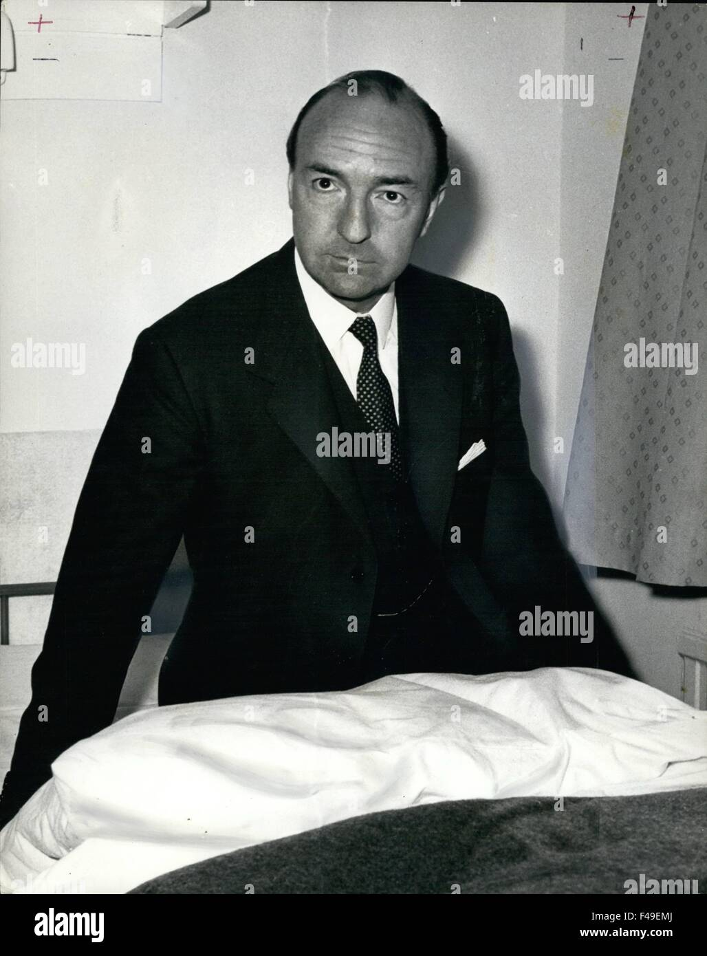 1972- Profumo Now: Profumo - still an immaculate dresser - does all sorts of menial jobs, like making beds in his - Stock Image