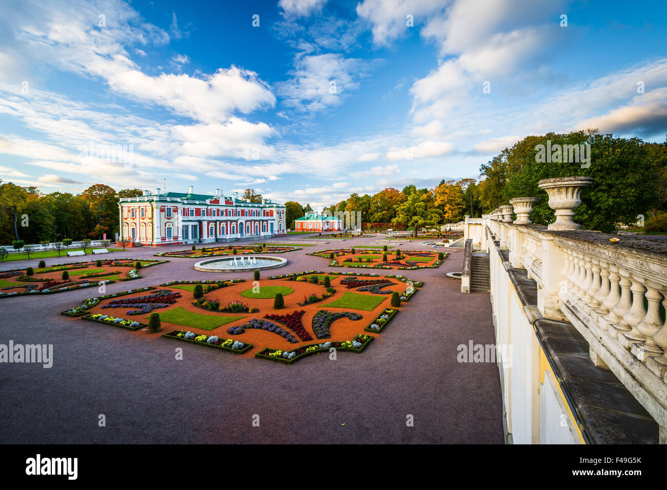 Kadriorg Palace, at Kadrioru Park, in Tallinn, Estonia. - Stock Image