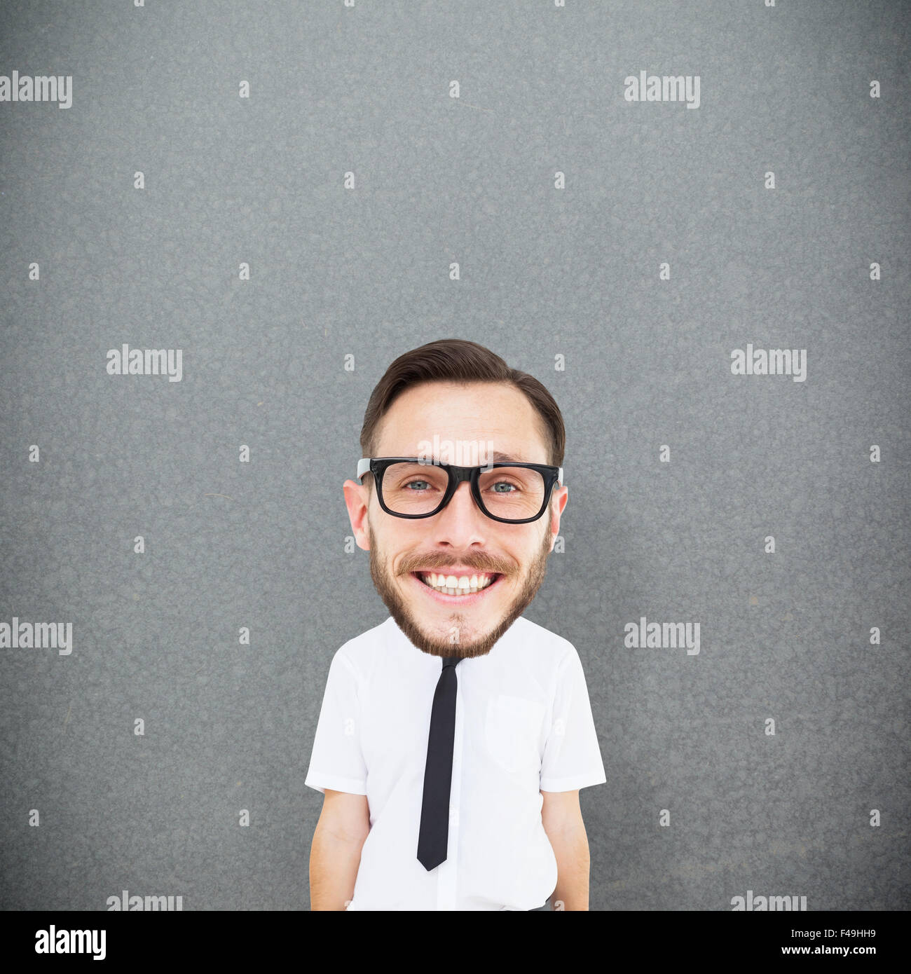 Composite image of geeky businessman Stock Photo