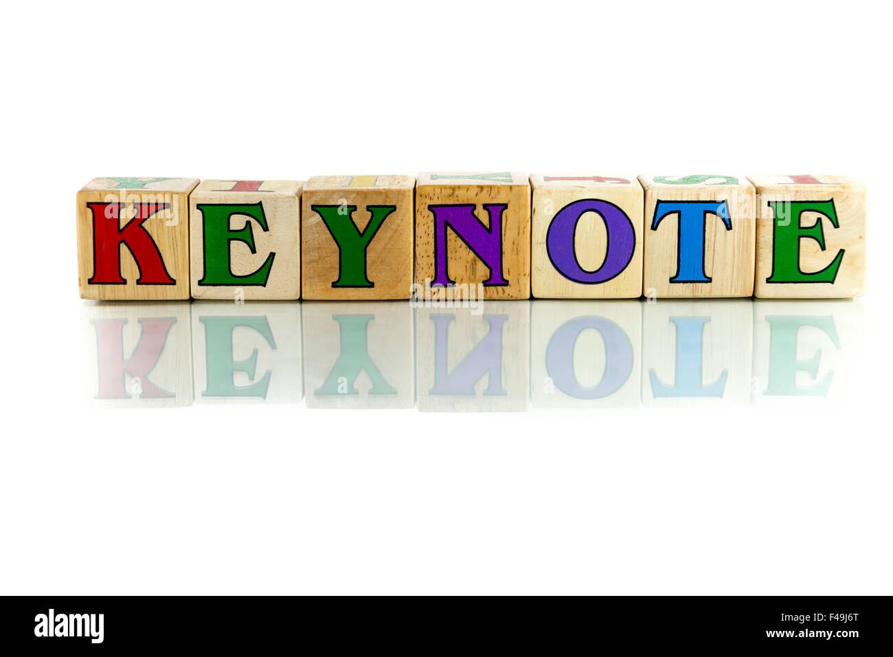 keynote - Stock Image