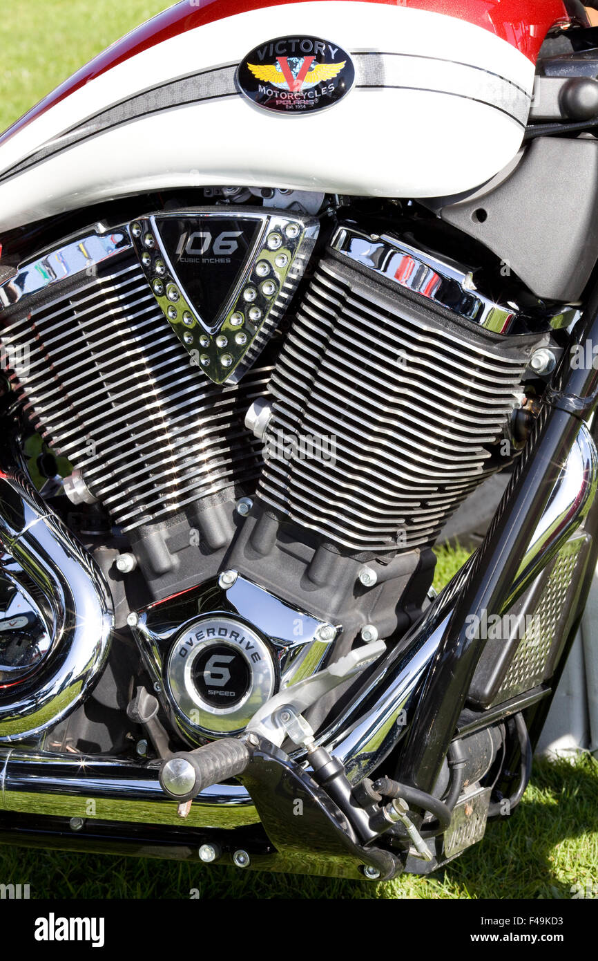 Twin Stroke Engine Stock Photos Images Victory Motorcycle Diagram And Fuel Tank On A Image