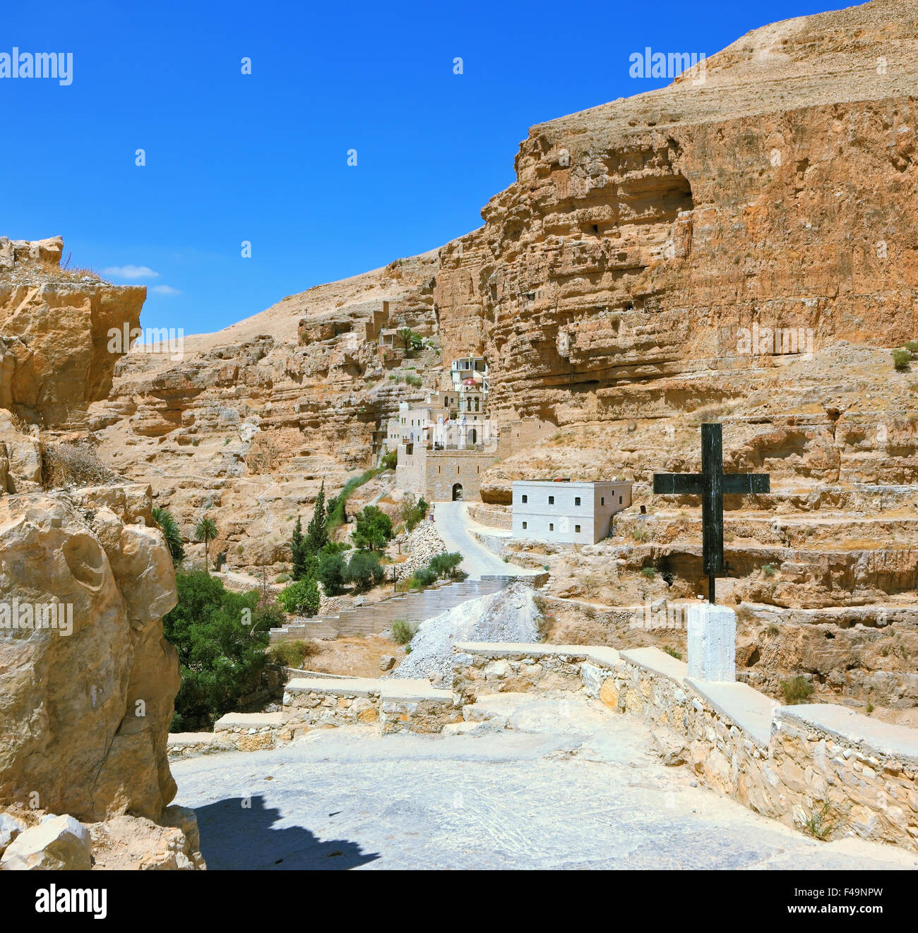 The guiding signpost - Black Cross - Stock Image