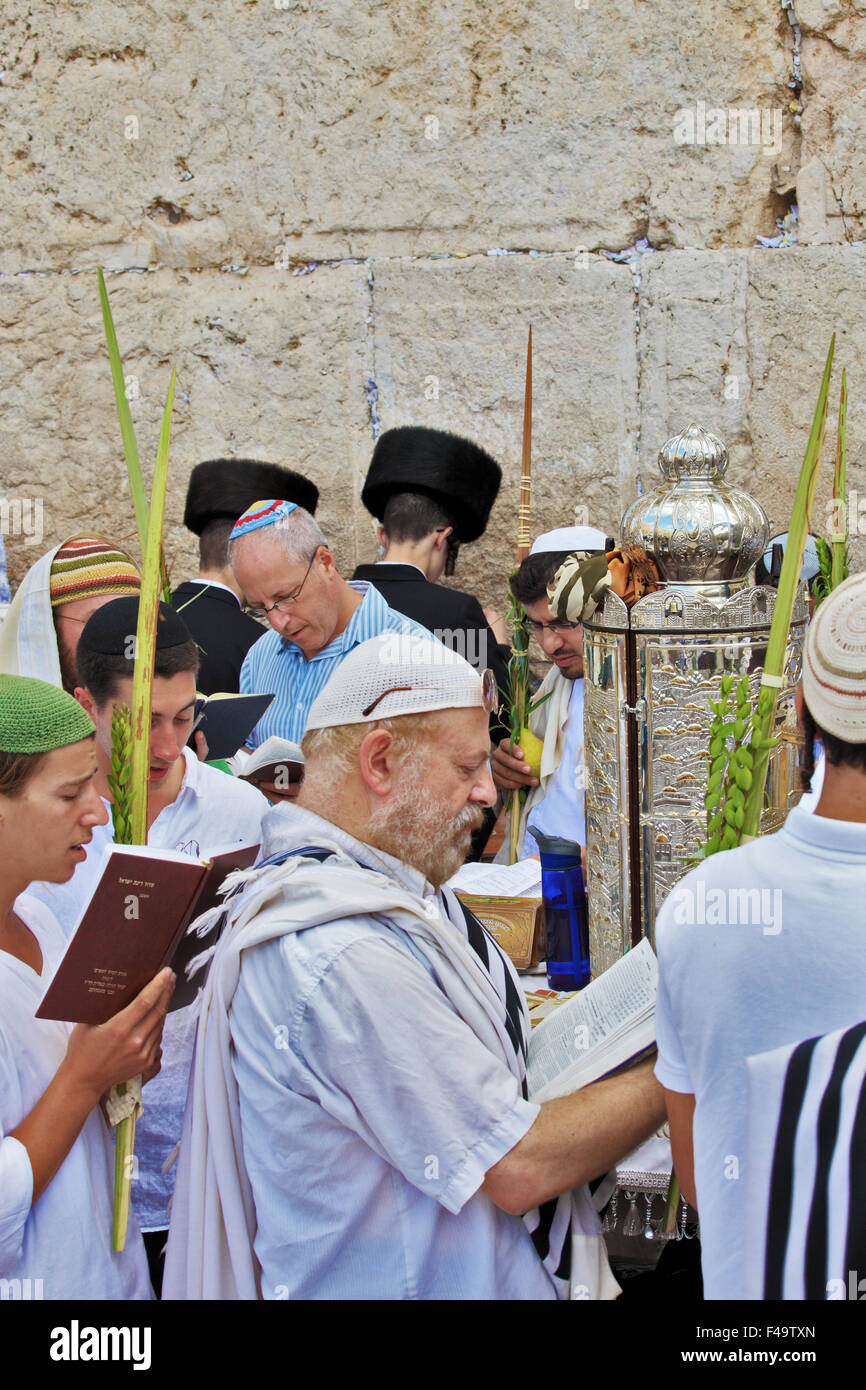 The Jews in traditional tallit - Stock Image