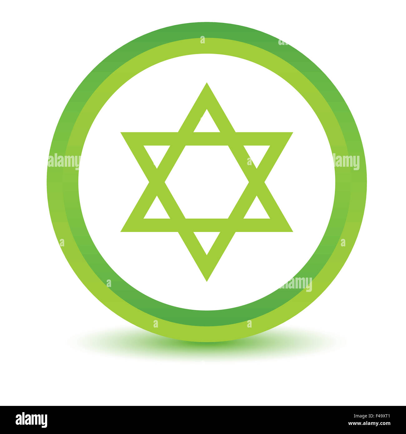 Green Judaism icon - Stock Image