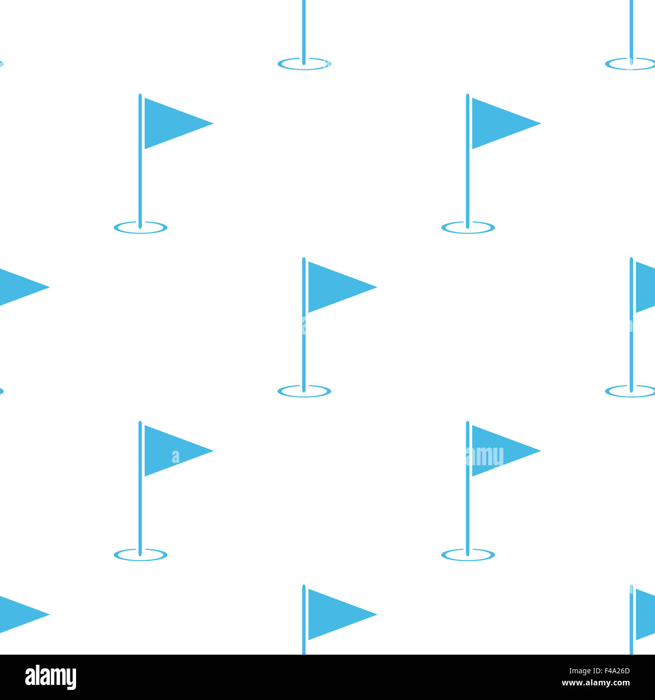 Hole Course white pattern - Stock Image