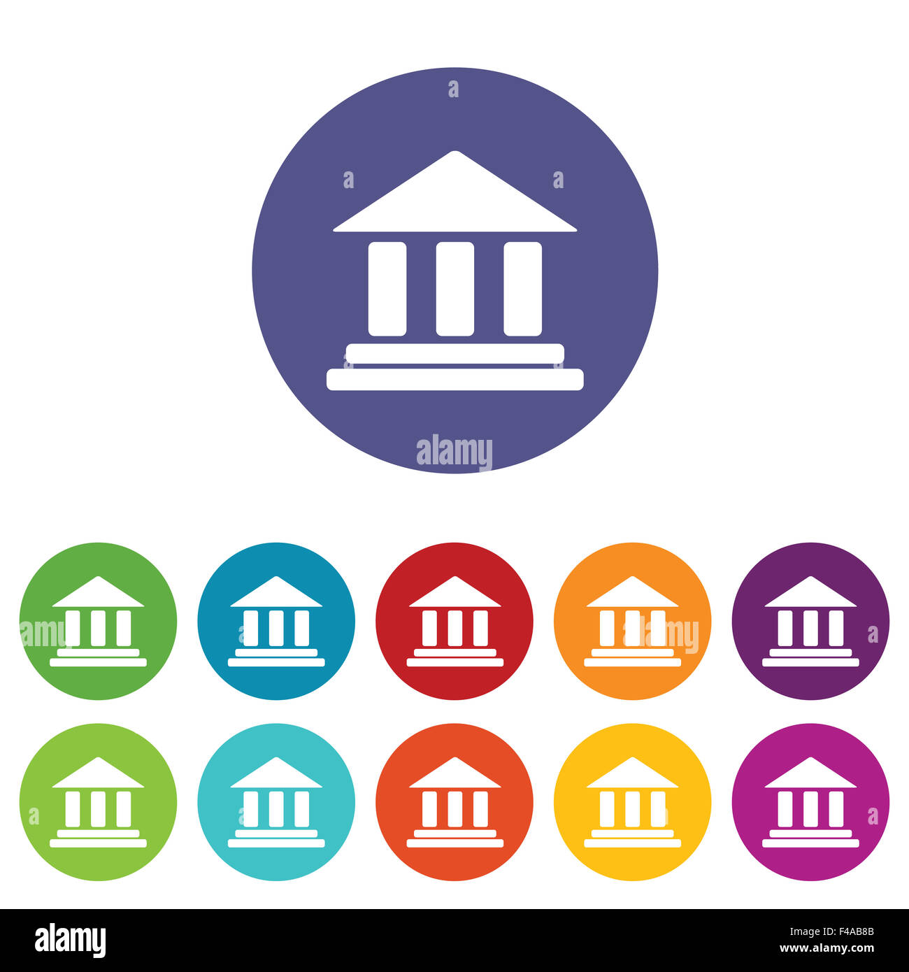 Classical building icon set - Stock Image