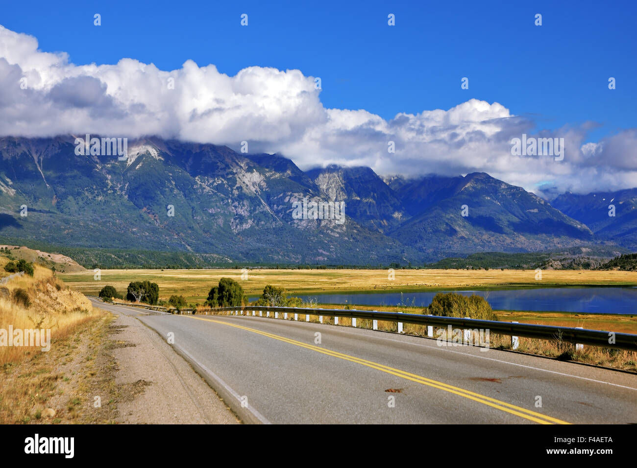 The longest road in Argentina Ruta 40 - Stock Image
