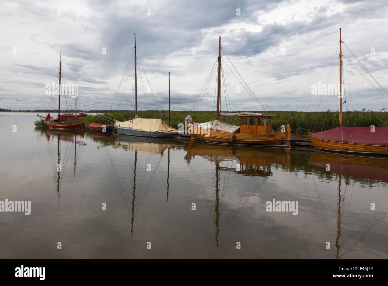 In the harbor of Wiek - Stock Image