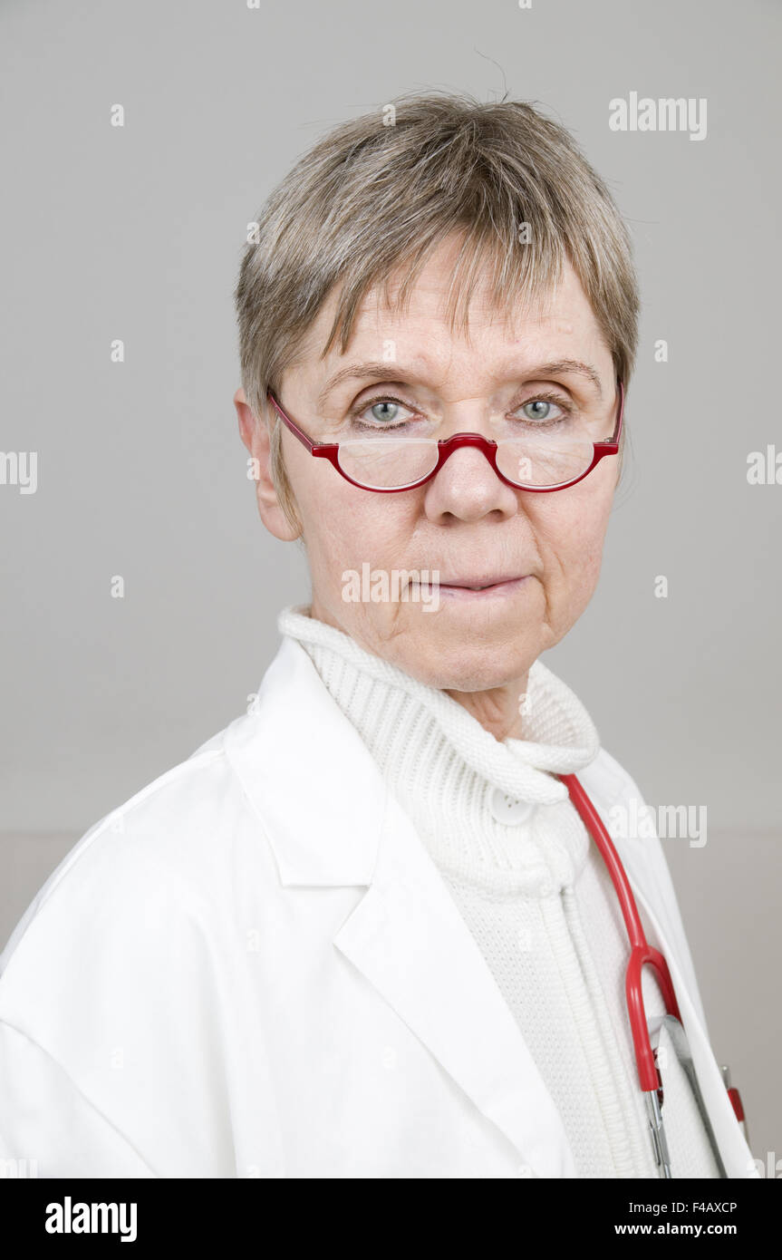 portrait of doctor serious - Stock Image