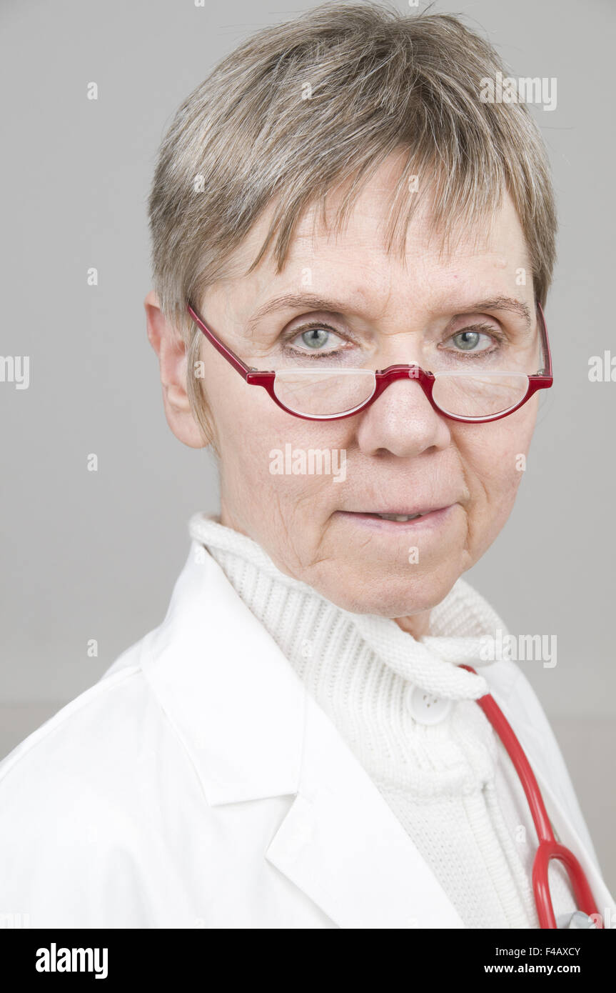 portrait of doctor near - Stock Image