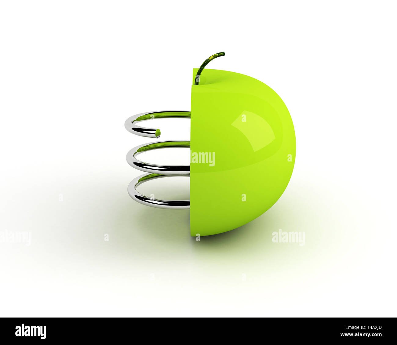 artificial apple. technological concept - Stock Image