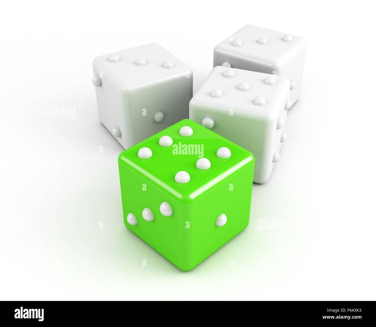 leading dice. winning concept - Stock Image
