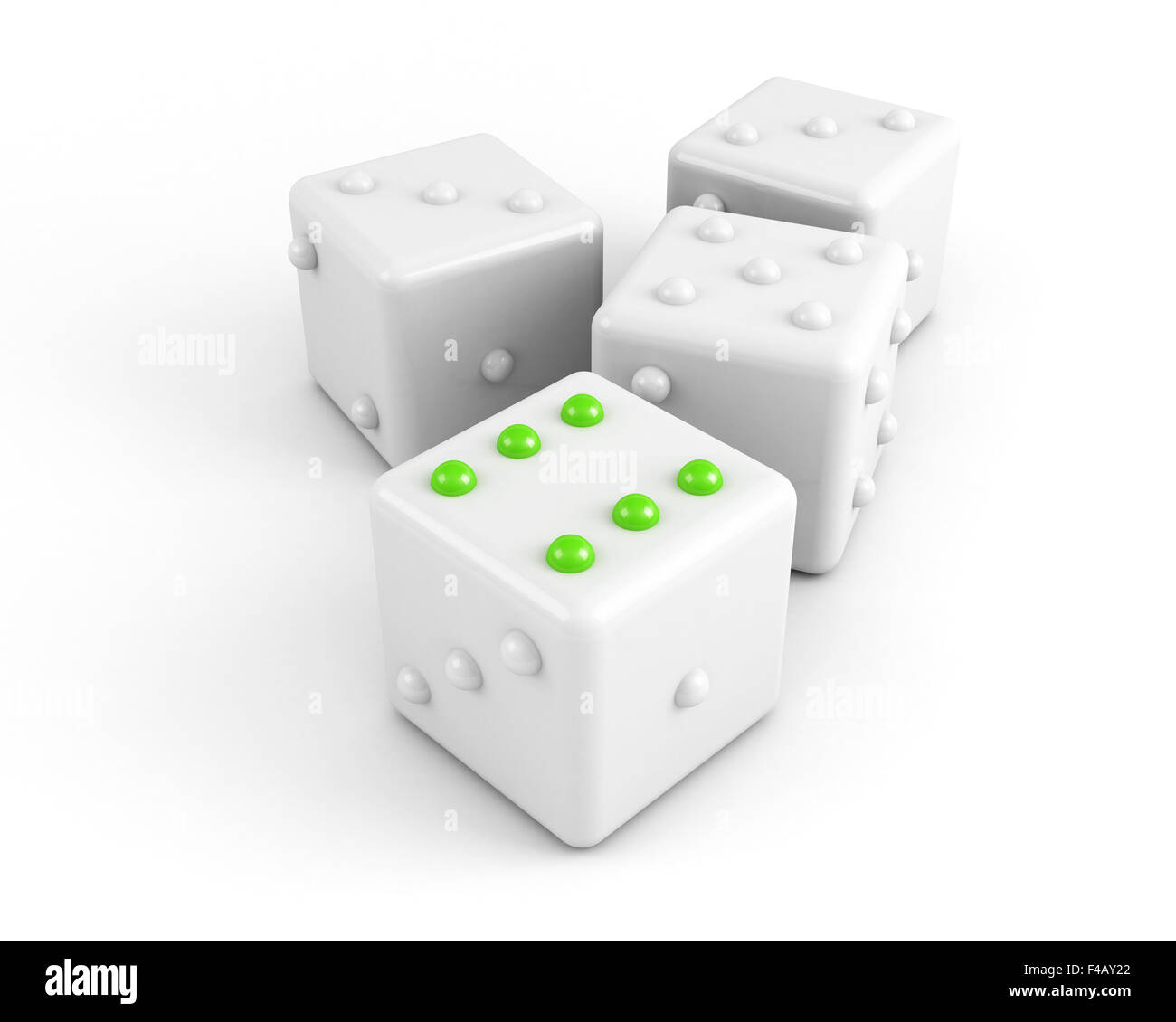 dices winning concept - Stock Image