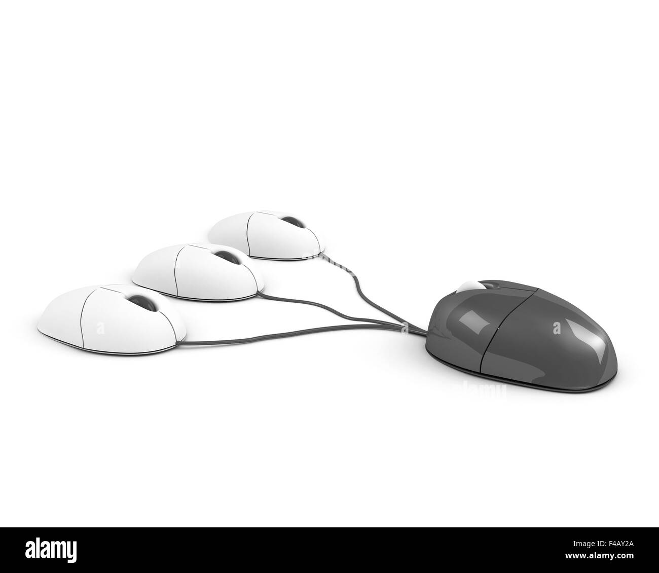 big boss mouse leading its staff - Stock Image