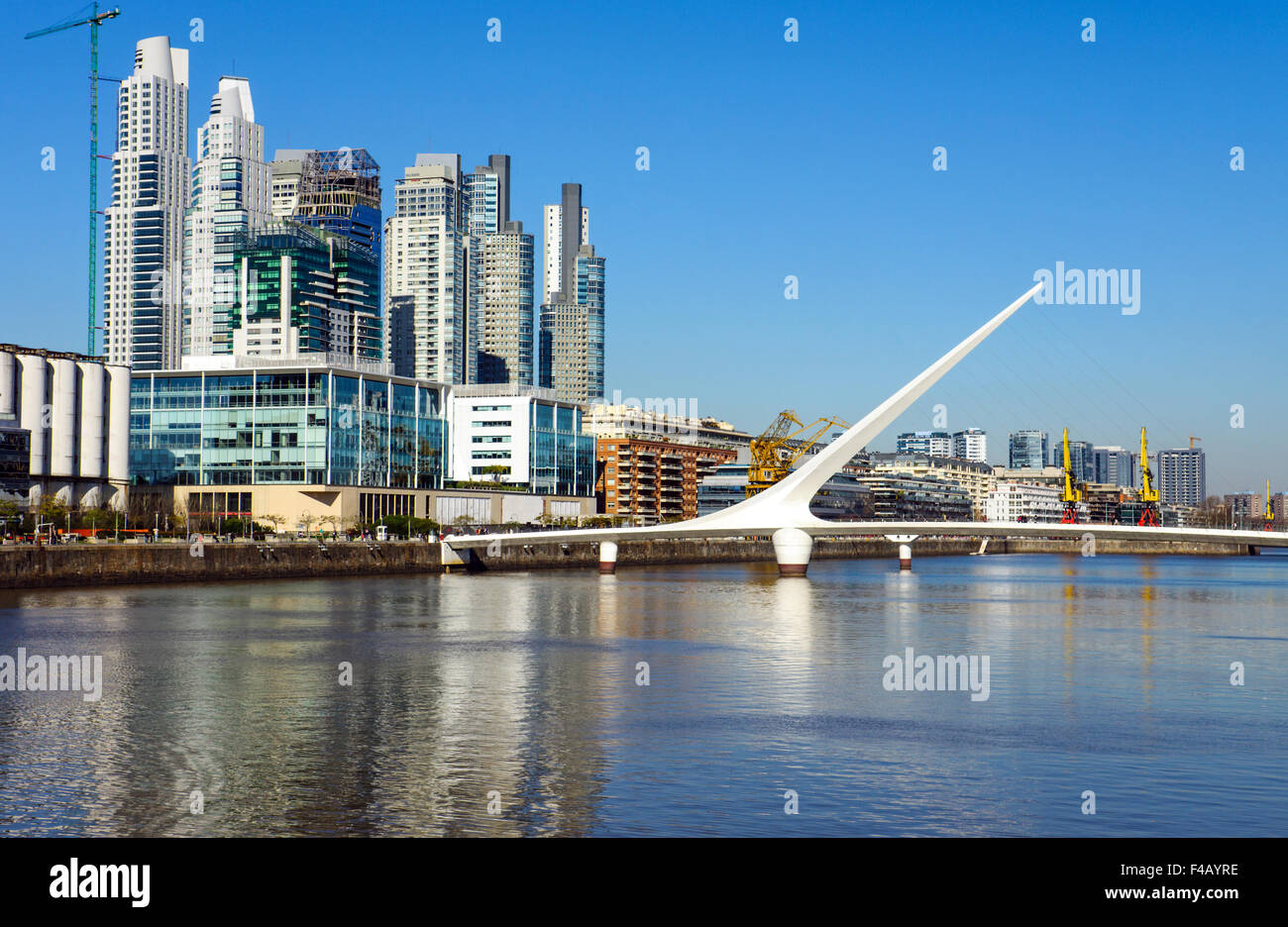Puerto Madero in Buenos Aires - Stock Image