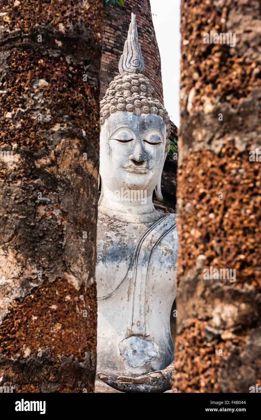 Buddha in Wat Sa Si, Sukhothai, Thailand - Stock Image