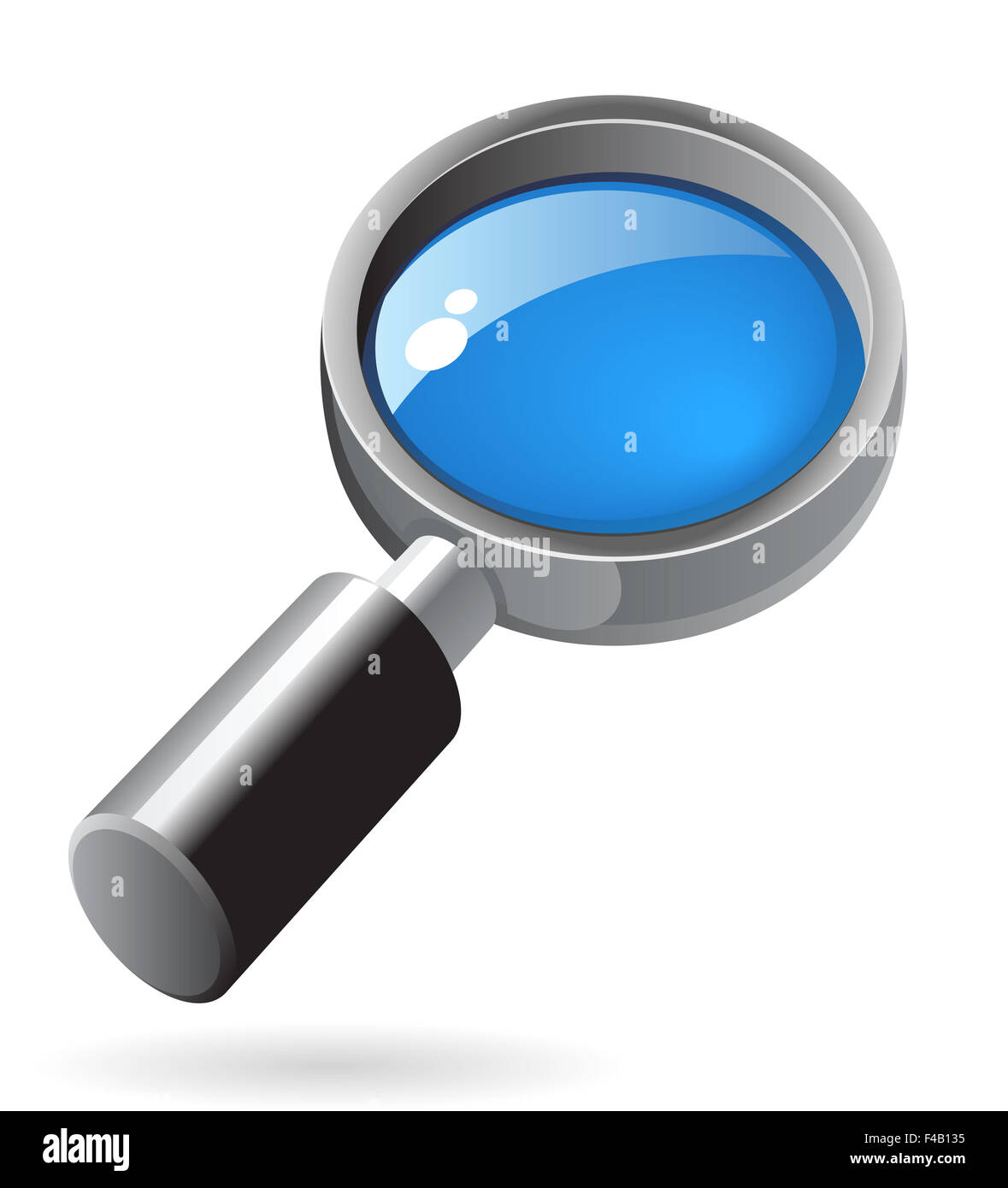 Isometric icon of lens - Stock Image