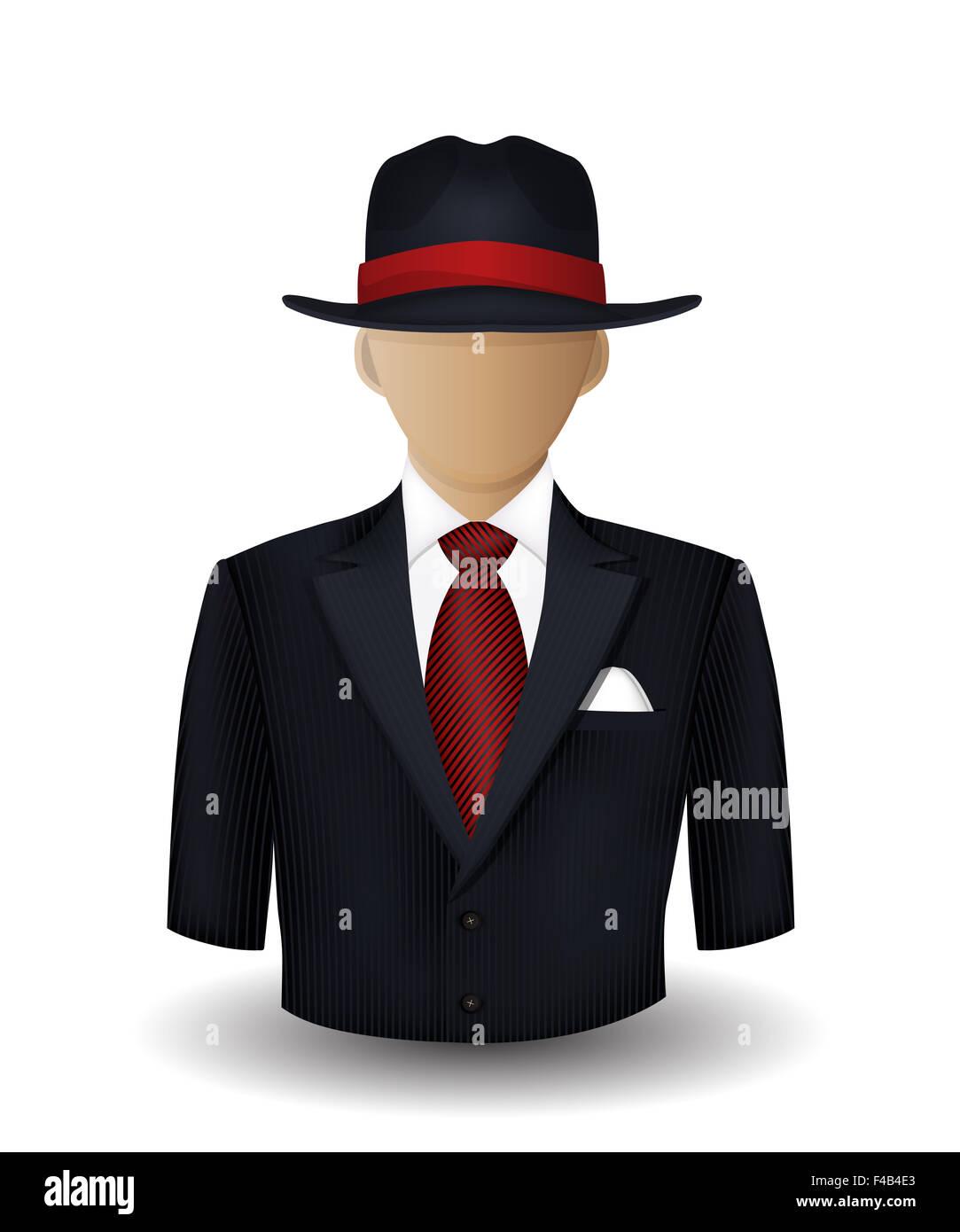 Mobster avatar - Stock Image