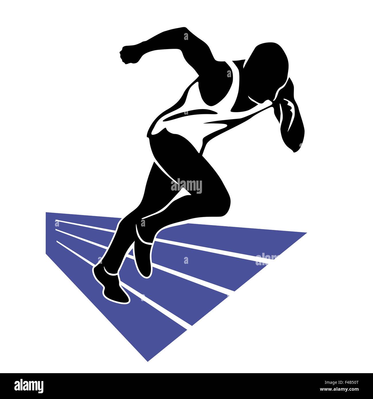 Running Sprint Stock Photo
