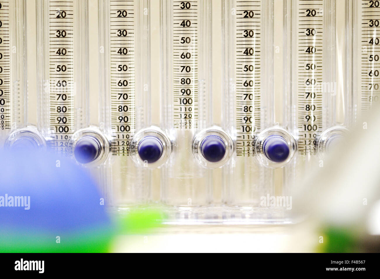 Tool for measuring the blood descent - Stock Image