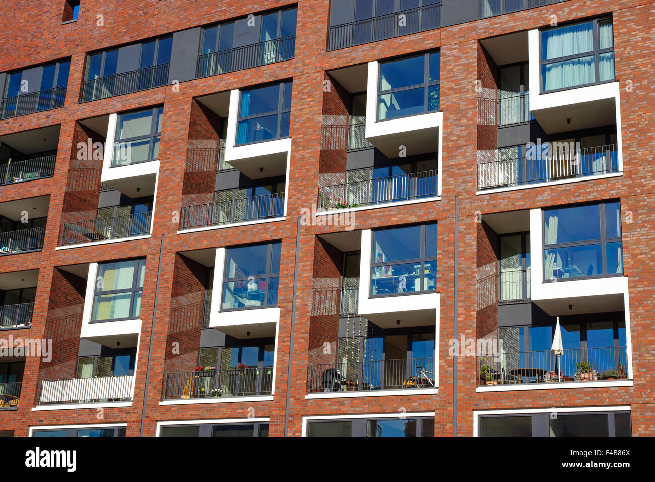 Facade of an apartment building Stock Photo