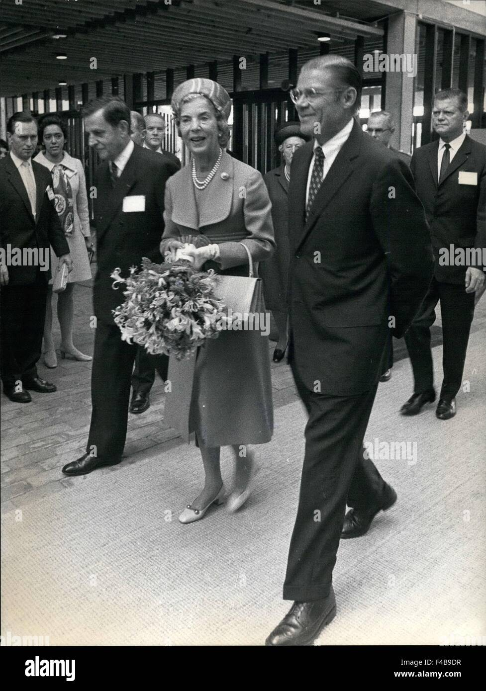 1973 - Opening of the IMF and the World Bank.: To day began the Annual Session of the International Monitary Foundation Stock Photo