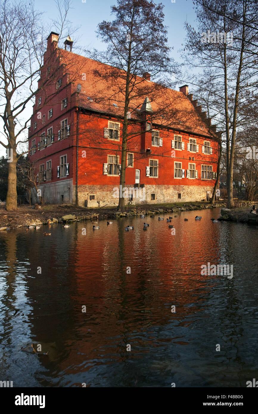 Knight manor house Wenge, Dortmund, Germany. - Stock Image