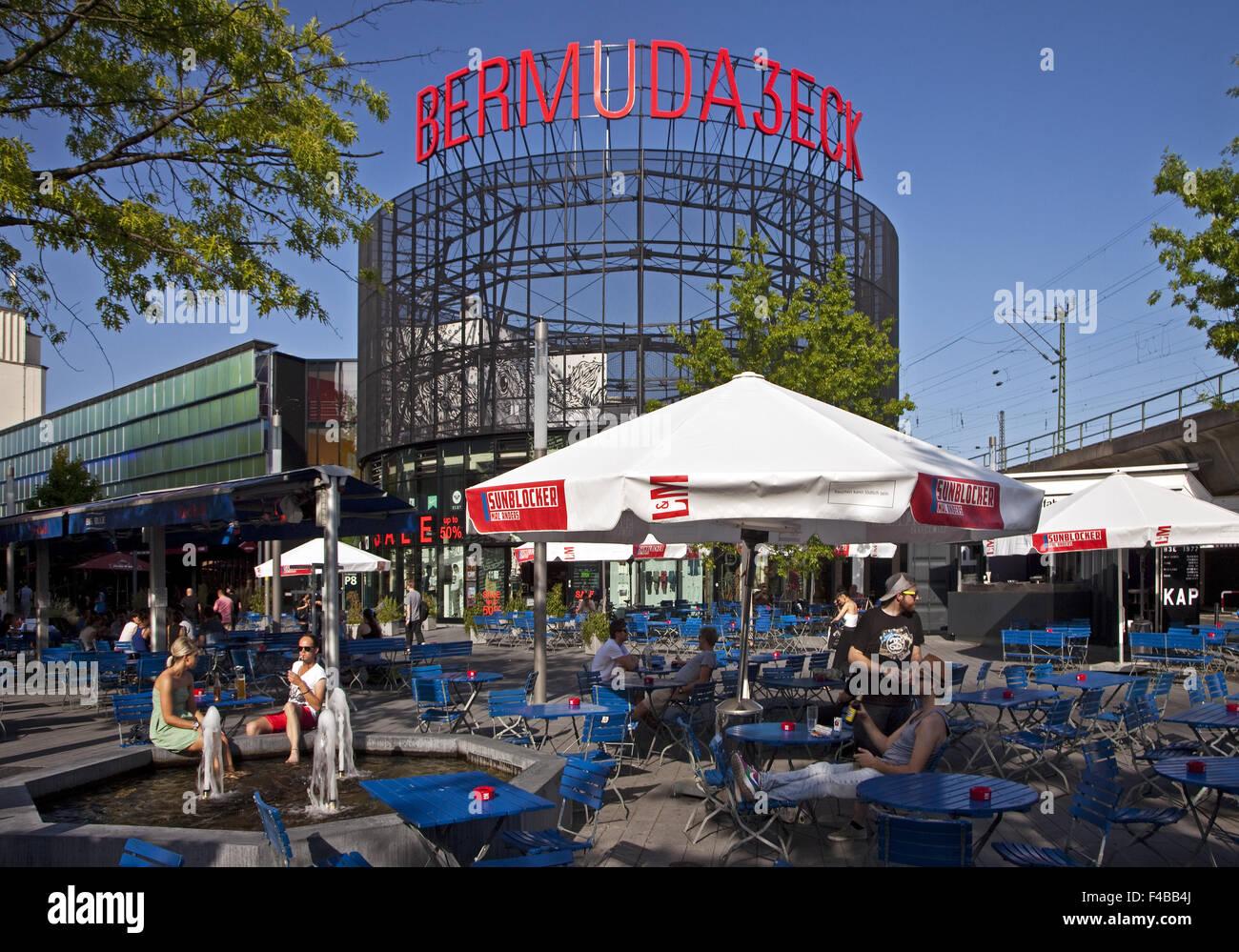 Scene quarter Bermuda Triangle, Bochum. - Stock Image