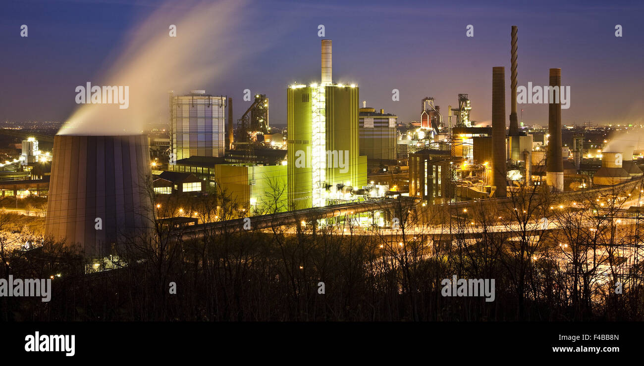 Steel mill ThyssenKrupp, Duisburg, Germany. - Stock Image