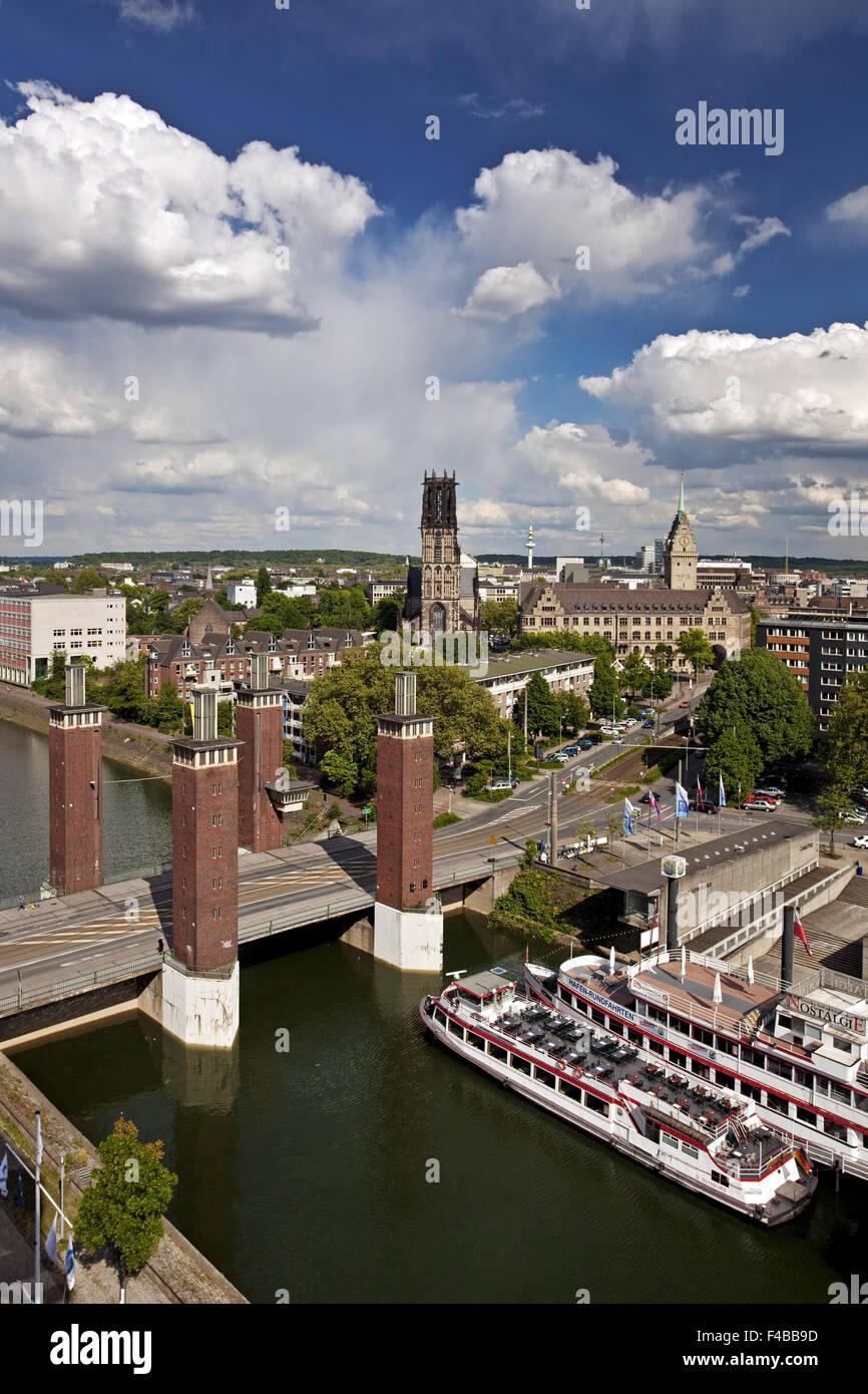 Schwanentor, downtown, Duisburg, Germany. - Stock Image
