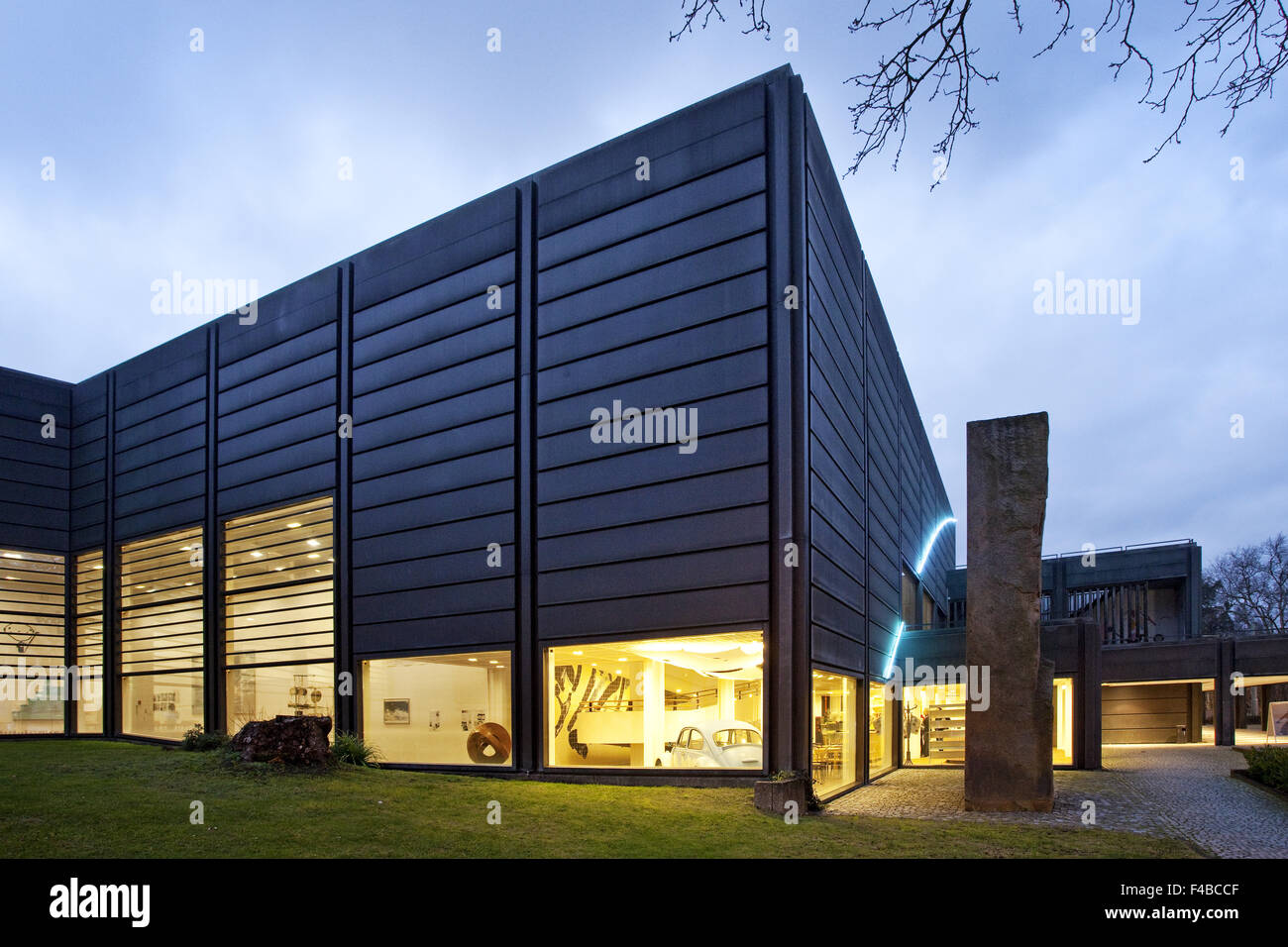 The Museum Bochum in the twilight, Germany. - Stock Image