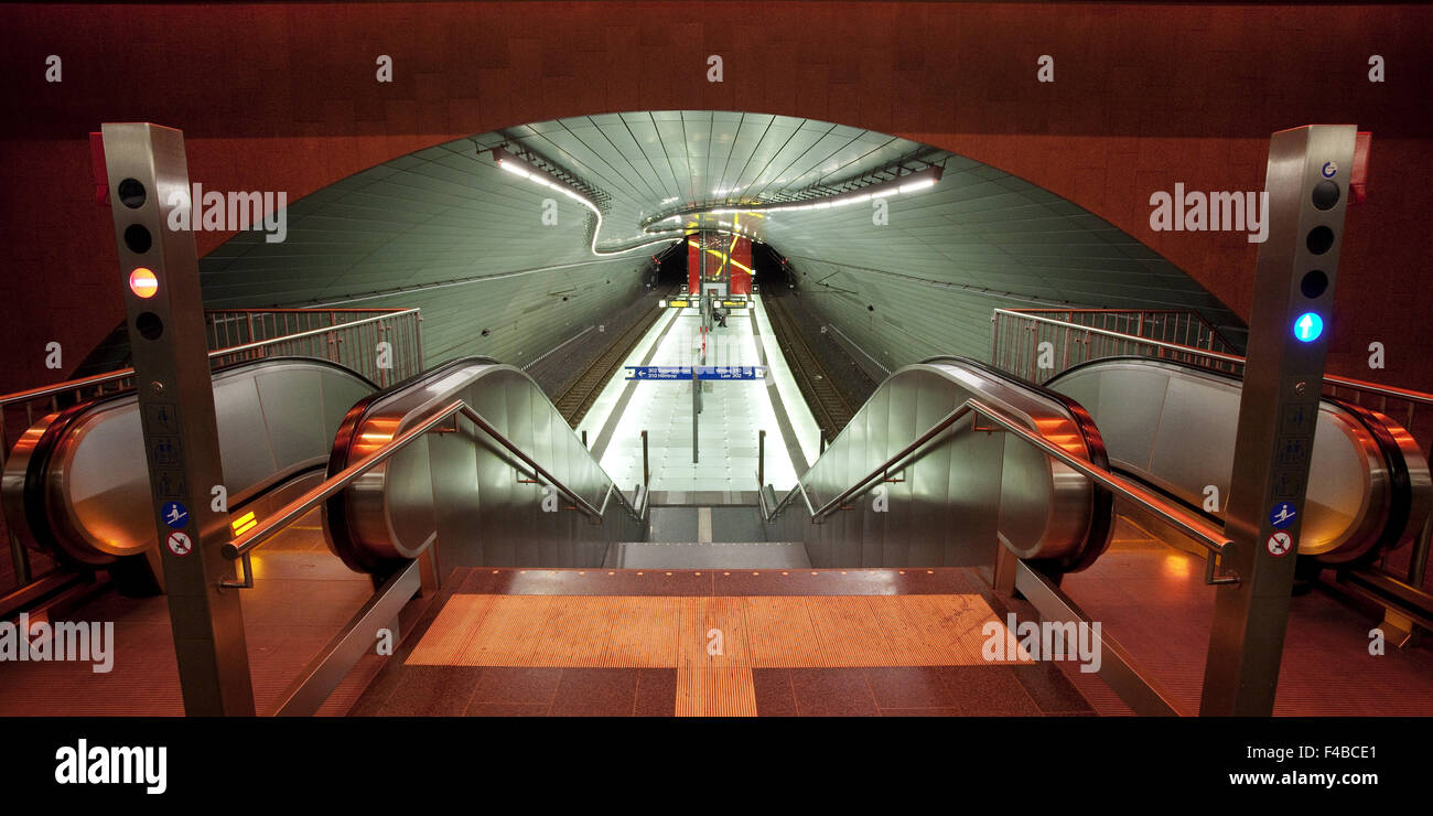 Metro Station Lohring Bochum, Germany. - Stock Image