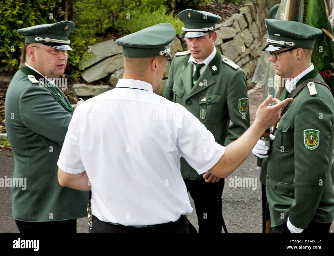 Marksmen in Wenden in southern Westphalia. Stock Photo