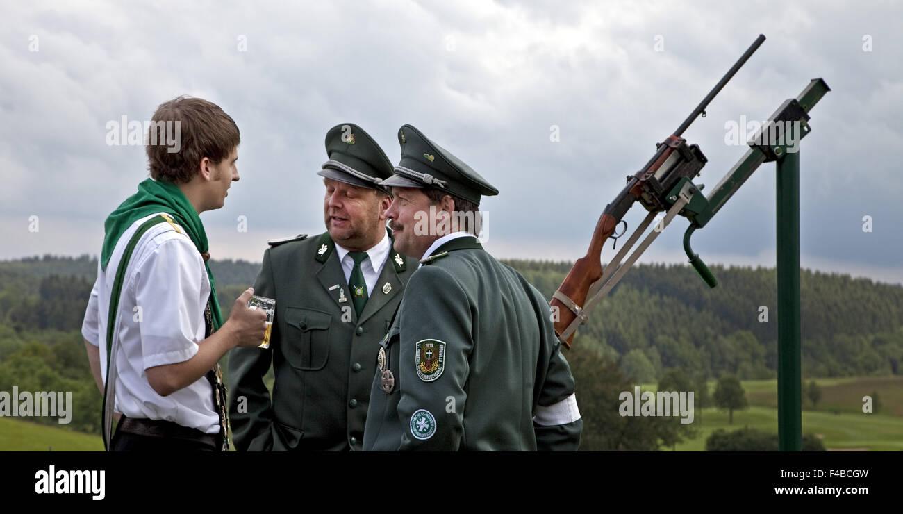 Marksmen in Wenden in southern Westphalia. Stock Photo