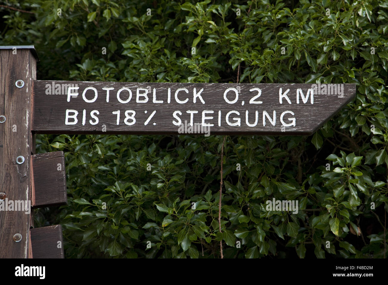 Sign to view photo in Freudenberg. - Stock Image