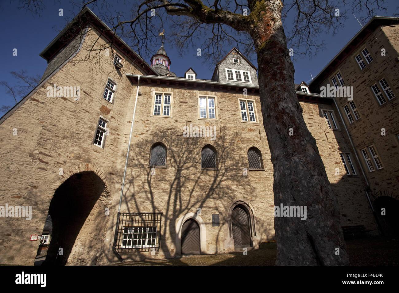 The Upper Castle in Siegen in Germany. - Stock Image