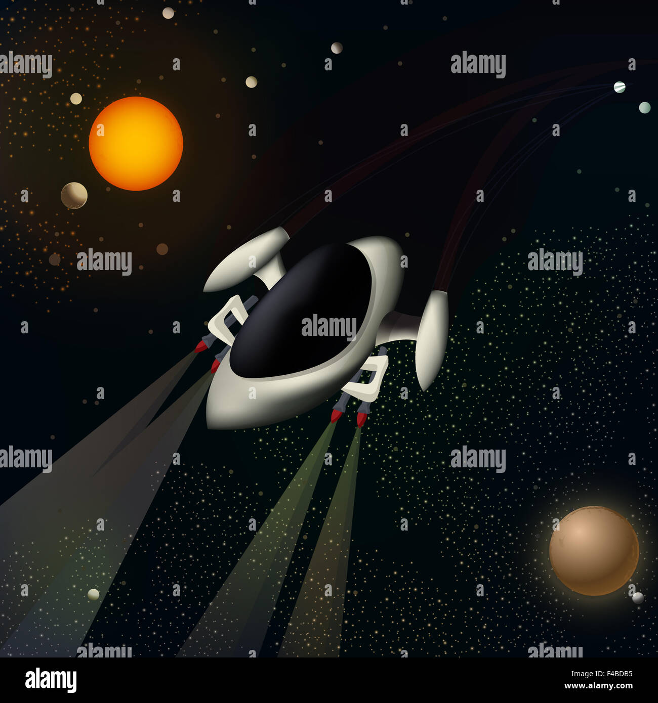 Illustration of a spacecraft - Stock Image