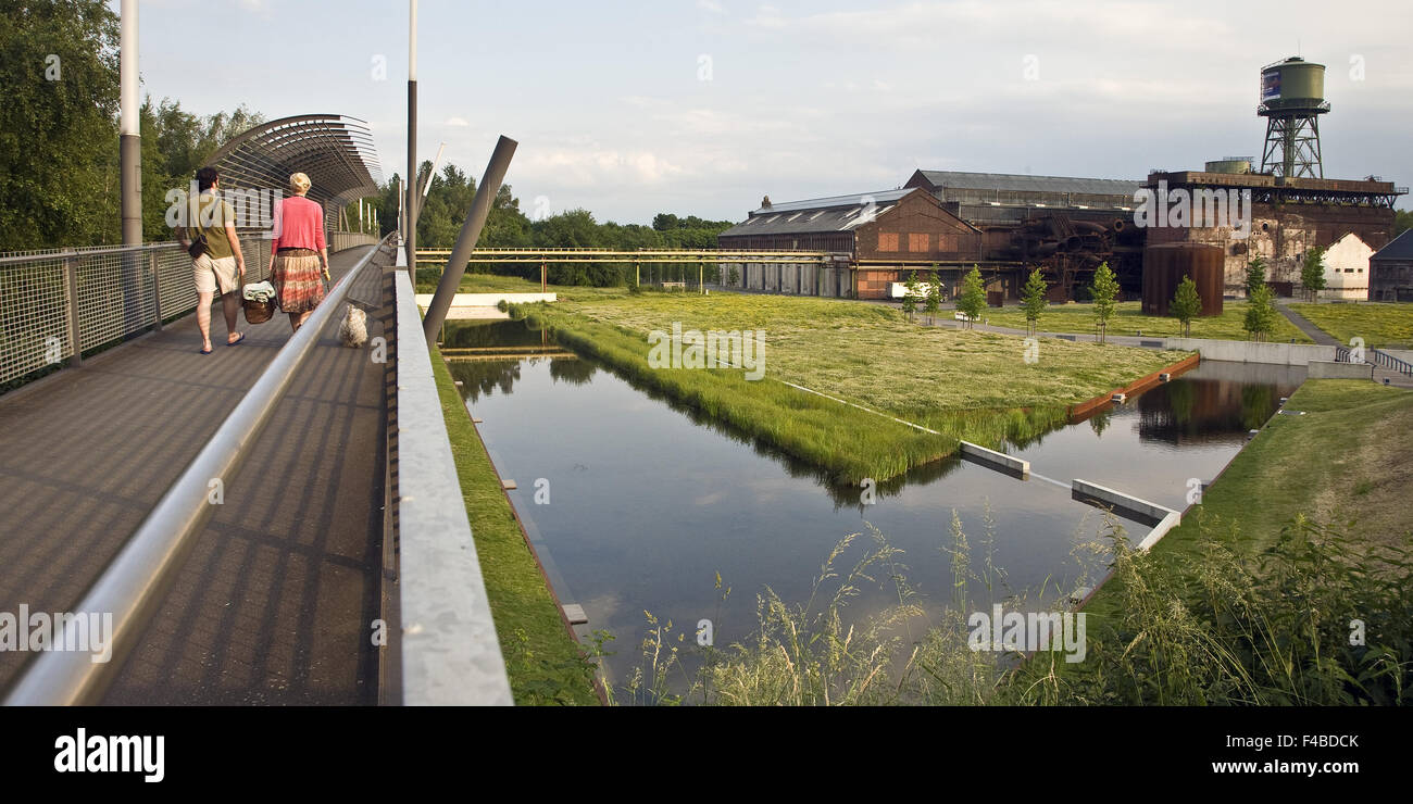 People in Westpark, Bochum, Germany. - Stock Image