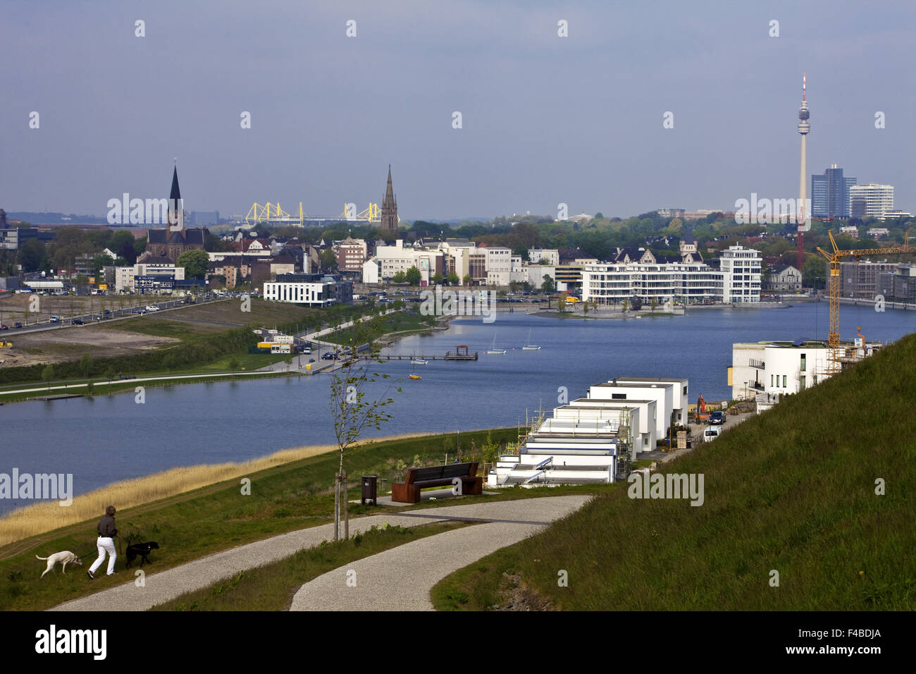 Phoenix Lake, Dortmund, Germany. - Stock Image
