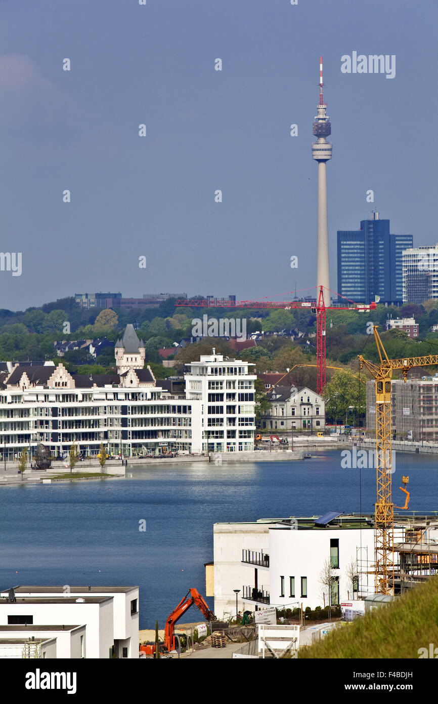 development, Phoenix Lake, Dortmund. - Stock Image